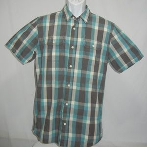 VANS Mens medium Plaid Short Sleeve Shirt
